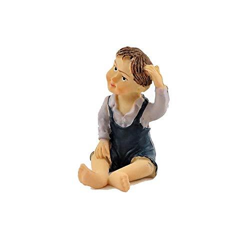 Melody Jane Puppenhaus Sitzender Kleiner Junge Grau Top Miniatur-Menschen Kunstharz Modern Figuren (Aztec Figuren)