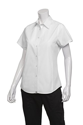 Chef Works Frauen Frau Damen Cool Vent Chefs Shirt arbeiten Outfit Top Tee New, Small, weiß, 1