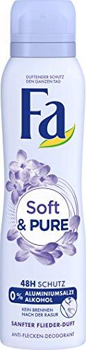 Fa Soft und Pure 48h Deospray, 6er Pack (6 x 150 ml)