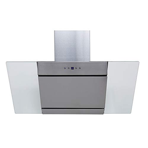SIA AGL91SS 90cm Angled Stainless Steel Chimney Cooker Hood Kitchen Extractor