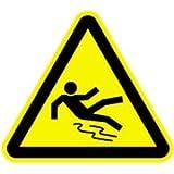 Schild Warnung vor Rutschgefahr 10cm sl Alu gemäß ASR A 1.3/BGV A8/DIN 4844