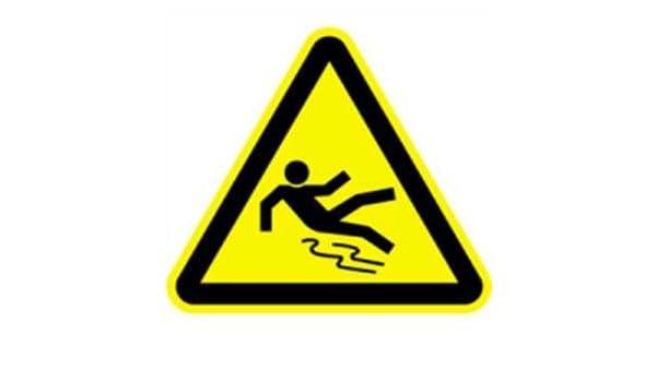 Schild Warnung vor Rutschgefahr 40cm sl Alu gemäß ASR A 1.3//BGV A8//DIN 4844