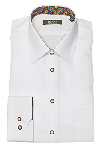 arido Trachtenhemd Herren langarm 2735 255 30 weiß 30 45