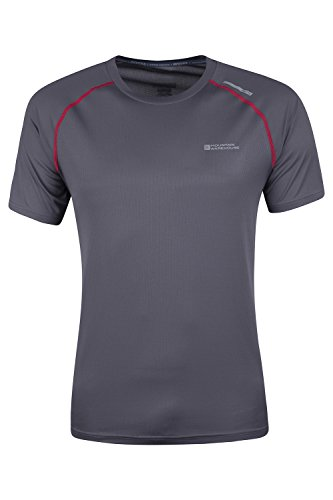 Mountain Warehouse Aero Mens Short Sleeve Top - Lightweight Tshirt, Breathable Tee, Durable Spring Shirt, High Vis Vest with Antibacterial & IsoCool Fabric - Great Layer