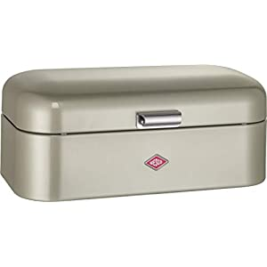 Wesco Grandy Powder Coated Steel Bread Bin - New Silver