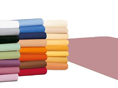 badtex24 Spannbettlaken 90 100 x 200 Spannbetttuch Bettlaken Jersey 100% Baumwolle 20 Farben Rosa 90x190-100x200cm
