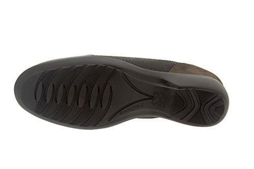 Scarpe donna comfort pelle Piesanto 7675 cordoncino casual comfort larghezza speciale Taupe