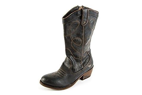 Mustang Damen Stiefel Western Boots Grau Gr. 37