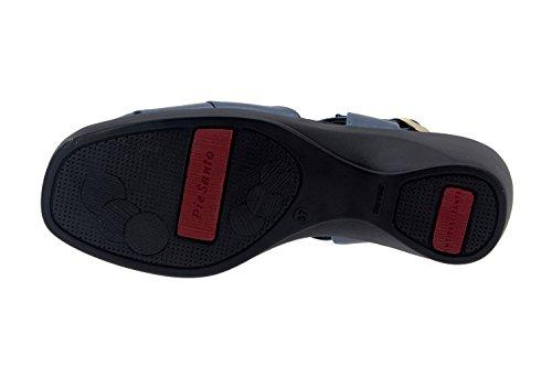 Scarpe donna comfort pelle Piesanto 4581 sandali comfort larghezza speciale Marino
