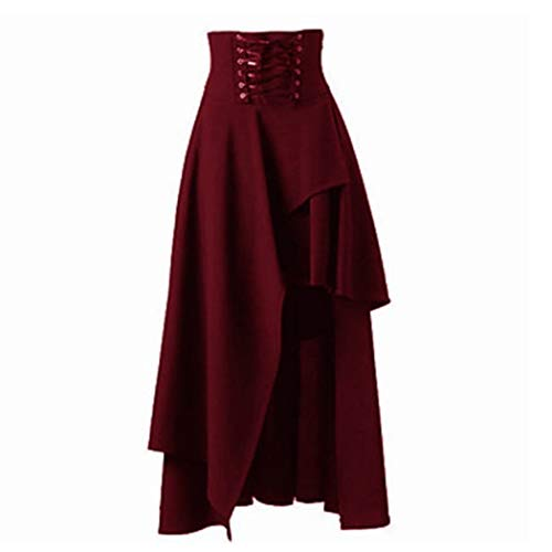 hic Lolita Kleid Steampunk Rock Prinzessin Party Plissee Schaukel Cosplay Kostüm Vintage ()