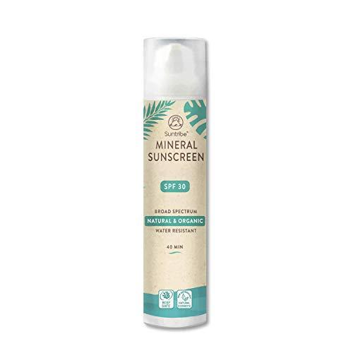 Suntribe Bio-Sonnencreme LSF 30 - Körper & Gesicht - 100% Zink - Riff freundlich - 7 Inhaltsstoffe - Wasserfest (100ml)