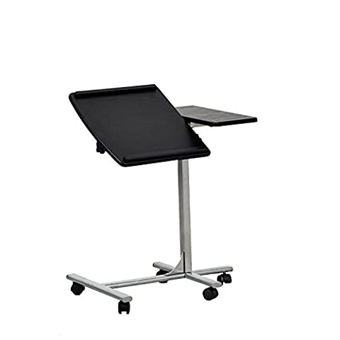 Coavas Laptop Stand Table Desk Height and Notebook Board Angle Adjustable Desk with Mouse Board and Castors - Black