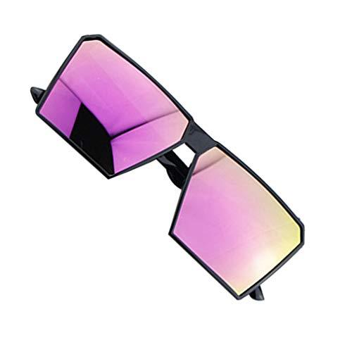 Provide The Best Große Rahmen Retro-Sonnenbrille Retro-Platz Brillen Männer Jungen Frauen Mädchen Brillen Street UV400