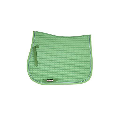 netproshop Sattelunterlage Schabracke Satteldecke Vielseitigkeit Full Grün, Farbe:Hellgruen