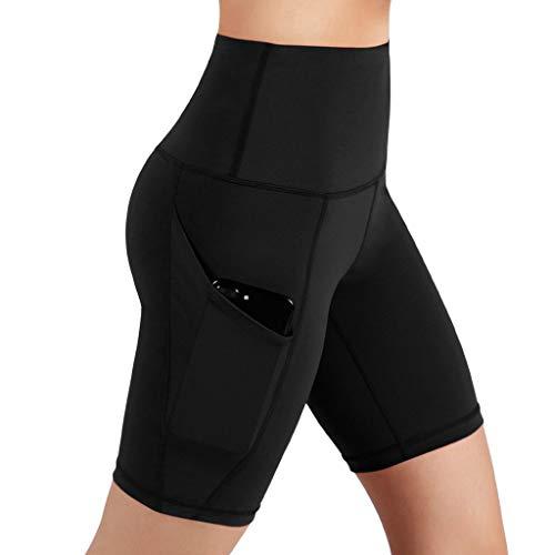 Kurz Hose Sporthose Damen Jogginghose Stoffhose Kurze Shorts Schlafhose Jersey Schlafanzughose Baumwolle für Yoga Sport Jogging Gym Running Beiläufige Elastische -
