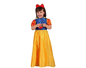 Atosa-52841 Disfraz Princesa de Cuento, color amarillo, 10 a 12 años (52841)