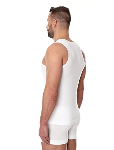 BRUBECK® 3x TA00540 COMFORT COTTON Herren Shirt | Trikot | Tank Top | Classic | Fein | Nahtlos | Perfect-Fit | Körperbetont White / A