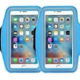 Brassard universel Casehigh Shop Fixation facile Sports Brassard avec construire en écran protection de Coque résistant aux rayures Matériau fin léger, armband blue 2pack