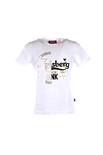 Carlsberg T-Shirt Uomo M Bianco Cbu3653 Primavera Estate 2019