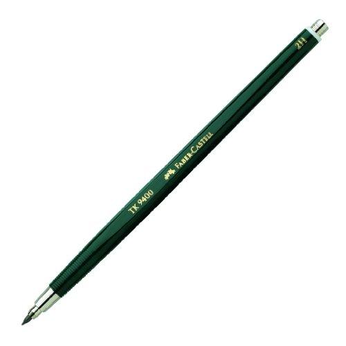 Faber-Castell 139412 - Fallminenstift TK 9400, Minenstärke: 2 mm, Härtegrad: 2H, Schaftfarbe:...