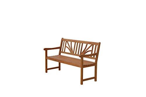 IND-70025-GB25 Gartenbank 2.5-Sitzer Lotus, Sitzbank aus Holz - 135 x 61 x 88 cm