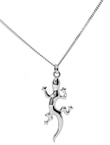 4b0cc7630deb Conjunto colgante Gecko Salamandra Lezard y cadena 45 cm en plata maciza  auténtico poinçonné 925 ascalido