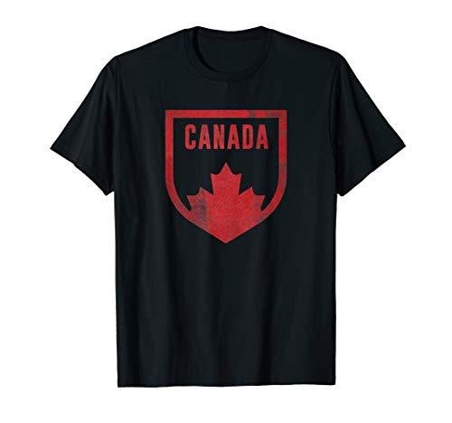 Kanada Flagge Classic Vintage Retro Wappen Canada Maple Leaf T-Shirt -