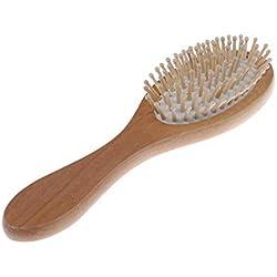 JKFJY FOLD Peine de barba de aire Peine de madera de bambú para cepillo de pelo rizado Cepillo Cepillo Masaje natural Peines Cuidado del cabello y masajeador de belleza