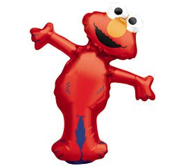 Elmo Full Body Mini Shape Balloon (1 ct) (1 per package) by Anagram (Party Geburtstag Supplies Elmo)