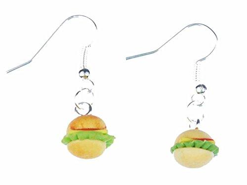 Burger Ohrringe Miniblings Hamburger Fast Food Cheesburger Natur