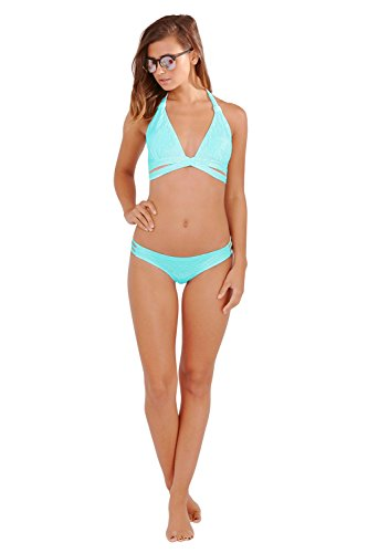 Boutique Damen Neckholder Bikini-Set orange Orange 36 Mint Aztec - Green