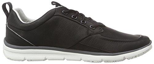 Clarks Orson Crew Herren Sneakers Schwarz (Black Leather)