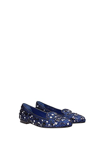 KCJ033NSS992 Christian Dior Pantoufle Femme Satin Bleu Bleu
