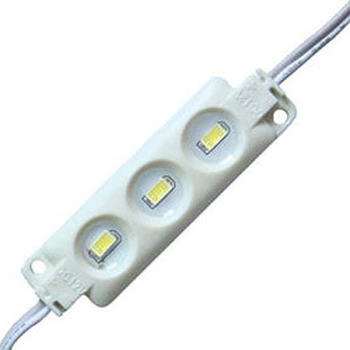 YXH® LED Modul 12V Kaltes Weiß (3LED Einspritzmodul-Kit) für DIY, LED-Beleuchtung  Buchstaben Zeichen Billboard Licht, drinnen draußen Wasserdichte 5730 SMD (20 Stück / Packung)