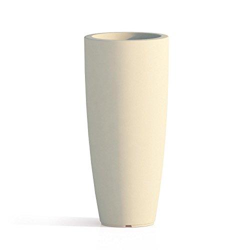 Vaso tondo 'stilo' in polietilene colorato. dal design elegante in puro stile moderno, È un ottimo complemento d'arredo e si abbina a molteplici ambienti nei quali viene collocato.