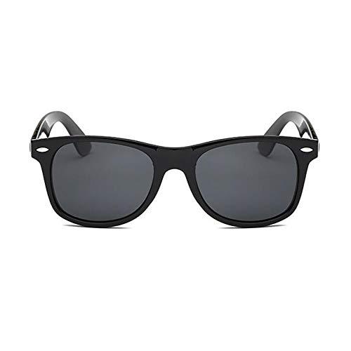 YGBH Klassische polarisierte Sonnenbrille, Mode großer Rahmen weiblicher polarisierter Spiegel für UV 400 Schutz Fahren im Freiensport,Gray