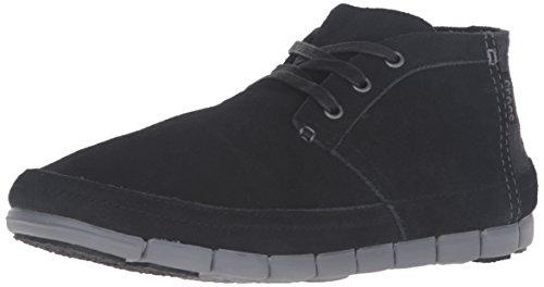 Crocs Schuhe - Esticar Único Deserto Avelã Inicialização Estuque Preto / Carvão