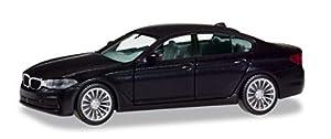 Herpa 420372 BMW Serie 5 Sedán, Negro, Automóviles para Manualidades y coleccionar