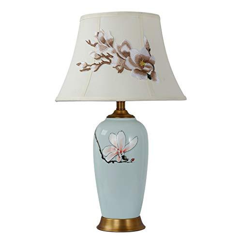 Lámpara de Cabecera Lámpara de Mesa de cerámica Floral de 25 ...