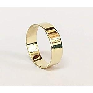 FloweRainboW Breiter Trauring 585 Gelbgold Klassisch – Hochzeitsring/Ehering/Verlobungsring – Damen/Männer