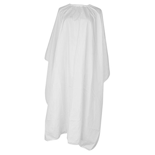 Sharplace Salon Barber Hairdressing Gown Dye Styling Cutting Shampoo Silk Cape Cloth - White, as described