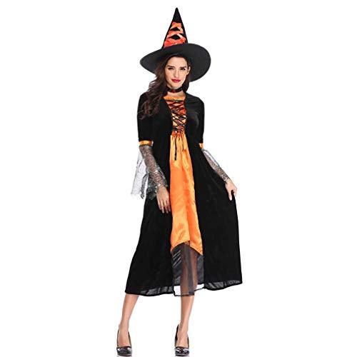 Mascarada Kostüm Halloween - MCKEYEN Halloween Kostüm Königin Kleid Vampire Kostüm Ostern Erwachsene Weibliche Teufel Kostüm