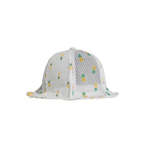 nderhat Kinder wildes beiläufiges Double-Sided Zwei Farben Fischer Hut Sommer Kappe Visier für Schule, Reise, Klettern, Reiten, tägliche Tragen (Weiß) ()