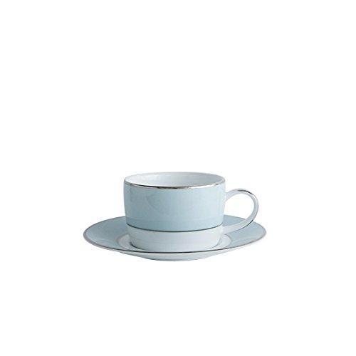 Fairmont & Main Cheltenham Teacup e piattino, colore: blu