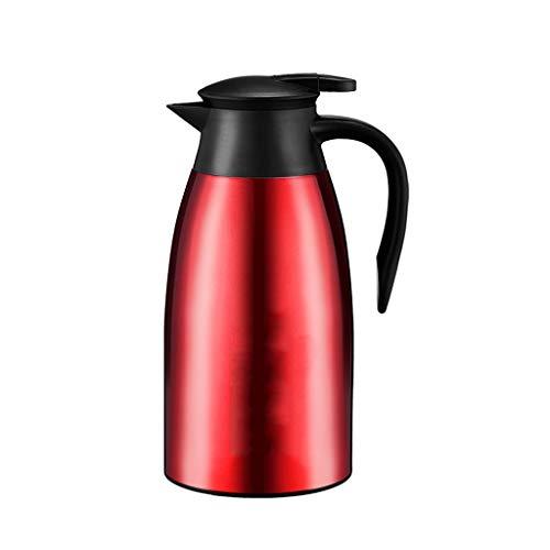 WLHW Trinkflaschen Isolationstopf Edelstahl 304 Flasche Kleiner Wasserkocher Kaffeekanne Thermos Haushaltskessel Dauerhafte Isolierung Flasche (Elegantes Rot) (größe : C)