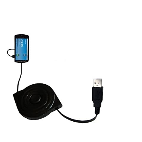 Sony Ericsson PlayStation Phone wiried Gomadic compact and retractable USB Charge cable - a USB Power Port Ready design and uses