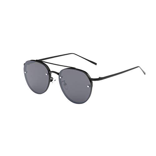 Ultra Premium Sleek Lunettes de soleil Aviator Lunettes de soleil polarisées Protection Miroir Métal UV Lunettes pour Hommes Femmes Noir Cadre Gris Lens