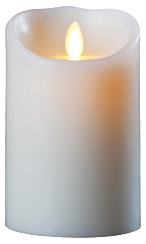 Luminara Wax Candle 3.5x5 Ivory