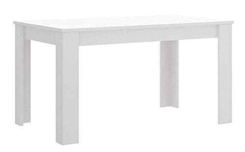 PEGANE Table à Manger Extensible Blanc Brillant - Dim : 90 x 78 x 140-190 cm