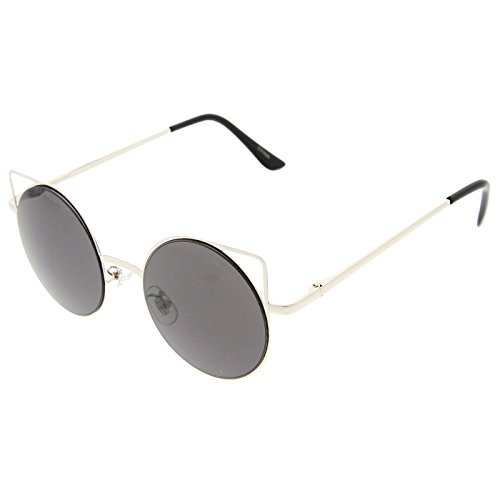zerouv-womens-thin-metal-cut-out-geometric-round-cat-eye-sunglasses-silver-smoke